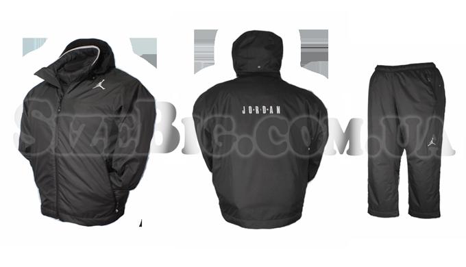 055c084c1900 Зимний, утепленный спортивный костюм большого размера для полных мужчин  Jordan! Только на SizeBig.